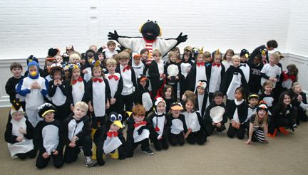 Kindergarten_Penguin Day Snow Bird 1-13-12
