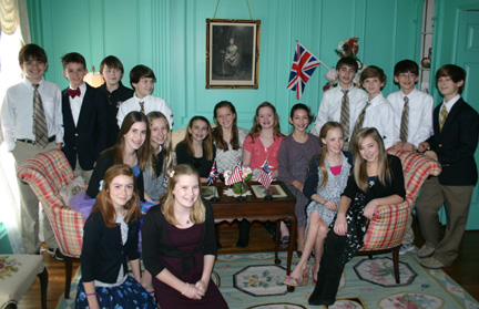 Sixth Grade English Tea_students_2-9-12