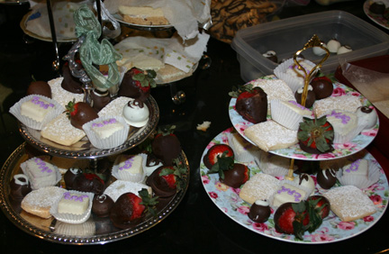Sixth Grade English Tea_food tray_2-9-12