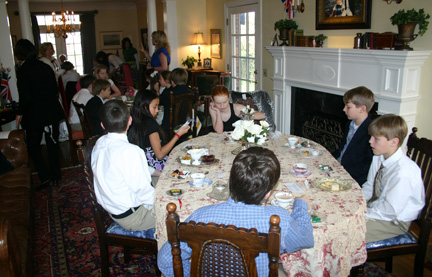 Sixth Grade English Tea_whole room_2-9-12
