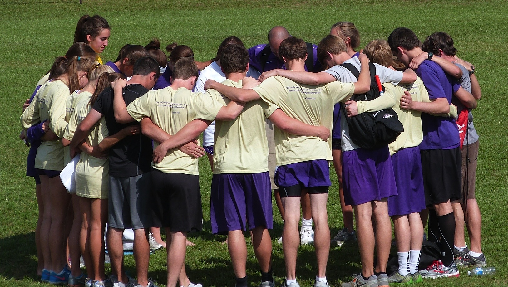 Track Team 2012 - praying at sectional - Track Team 2012 - praying